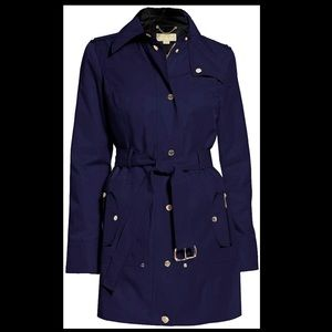 Michael Kors Hooded Belted Trench Coat Jacket